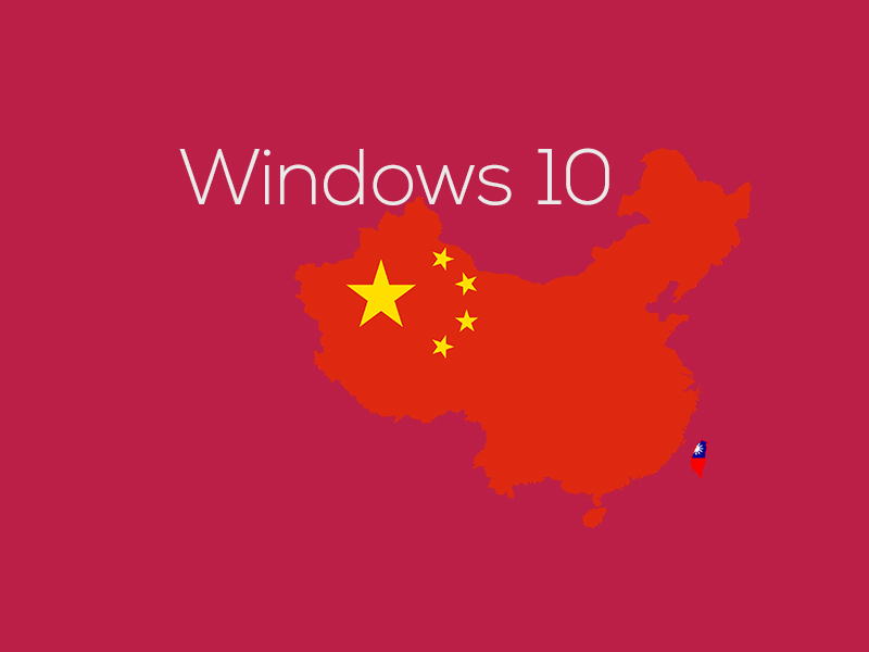 Microsoft has developed a special version of Windows 10 for China